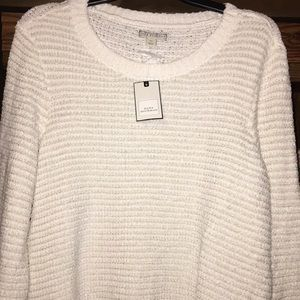 White and Gold Sweater